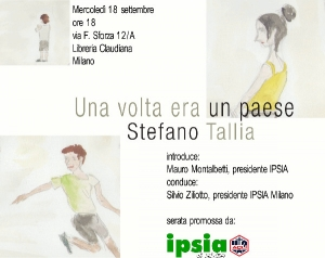 "Locandina presentazione ""Una volta era un paese"" di Stefano Tallia"