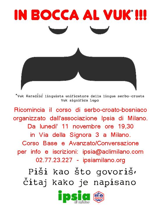 Corso Serbo-Croato-Bosniaco - IPSIA di Milano