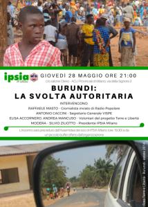 Serata Burundi - 28-05